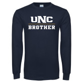 Navy Long Sleeve T Shirt-Brother