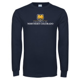 Navy Long Sleeve T Shirt-University of Northern Colorado Academic