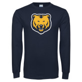 Navy Long Sleeve T Shirt-UNC Bear Logo