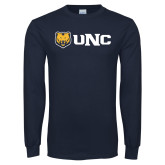Navy Long Sleeve T Shirt-UNC Bears