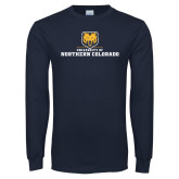 Navy Long Sleeve T Shirt-University of Northern Colorado Long Logo