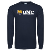 Navy Long Sleeve T Shirt-UNC University of Northern Colorado
