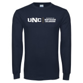 Navy Long Sleeve T Shirt-UNC Collegiate Horizontal