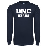 Navy Long Sleeve T Shirt-UNC Bears Collegiate