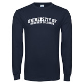 Navy Long Sleeve T Shirt-University of Northern Colorado