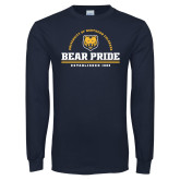 Navy Long Sleeve T Shirt-Bear Pride