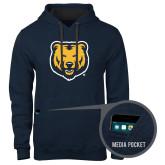 Contemporary Sofspun Navy Heather Hoodie-UNC Bear Logo