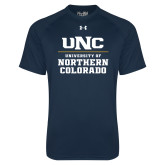 Under Armour Navy Tech Tee-UNC Collegiate Stacked