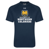 Under Armour Navy Tech Tee-Northern Colorado Stacked Logo