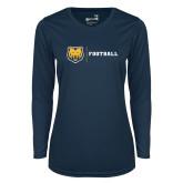 Ladies Syntrel Performance Navy Longsleeve Shirt-Football