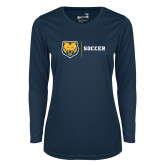 Ladies Syntrel Performance Navy Longsleeve Shirt-Soccer