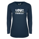 Ladies Syntrel Performance Navy Longsleeve Shirt-Family