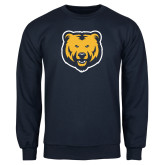 Navy Fleece Crew-UNC Bear Logo