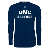 Under Armour Navy Long Sleeve Tech Tee-Brother