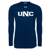 Under Armour Navy Long Sleeve Tech Tee-UNC