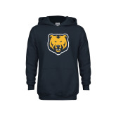 Youth Navy Fleece Hoodie-UNC Bear Logo