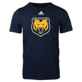 Adidas Navy Logo T Shirt-UNC Bear Logo