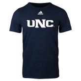 Adidas Navy Logo T Shirt-UNC
