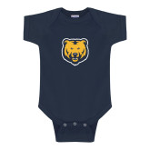 Navy Infant Onesie-UNC Bear Logo