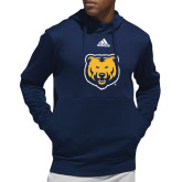 Adidas Navy Team Issue Hoodie-UNC Bear Logo