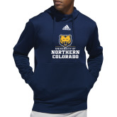 Adidas Navy Team Issue Hoodie-Northern Colorado Stacked Logo