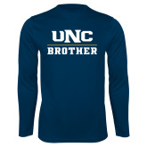 Performance Navy Longsleeve Shirt-Brother