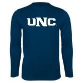 Performance Navy Longsleeve Shirt-UNC