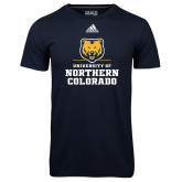 Adidas Climalite Navy Ultimate Performance Tee-Northern Colorado Stacked Logo