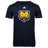 Adidas Climalite Navy Ultimate Performance Tee-UNC Bear Logo