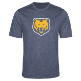 Performance Navy Heather Contender Tee-UNC Bear Logo