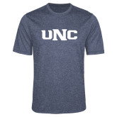 Performance Navy Heather Contender Tee-UNC
