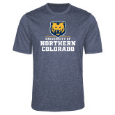 Performance Navy Heather Contender Tee-Northern Colorado Stacked Logo