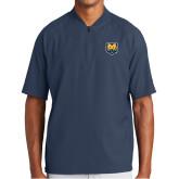 New Era Navy Cage Short Sleeve 1/4 Zip-UNC Bear Logo