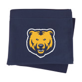 Navy Sweatshirt Blanket-UNC Bear Logo