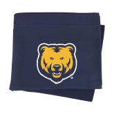 Navy Sweatshirt Blanket-UNC Bear Logo