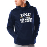 Under Armour Navy Armour Fleece Hoodie-UNC Collegiate Stacked
