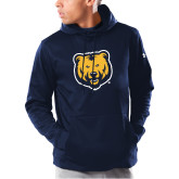 Under Armour Navy Armour Fleece Hoodie-UNC Bear Logo
