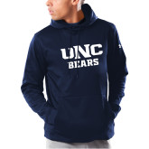 Under Armour Navy Armour Fleece Hoodie-UNC Bears Collegiate