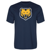 Performance Navy Tee-UNC Bear Logo