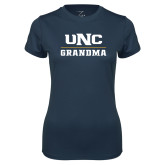 Ladies Syntrel Performance Navy Tee-Grandma