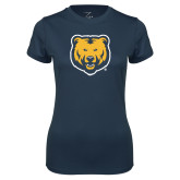 Ladies Syntrel Performance Navy Tee-UNC Bear Logo