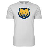 Next Level SoftStyle White T Shirt-UNC Bear Logo