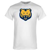 White T Shirt-UNC Bear Logo