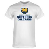 White T Shirt-Northern Colorado Stacked Logo
