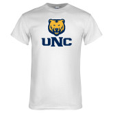 White T Shirt-UNC Bear Stacked