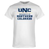 White T Shirt-UNC Collegiate Stacked