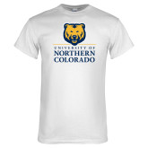 White T Shirt-University of Northern Colorado Academic Stacked
