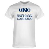 White T Shirt-UNC Academic Block