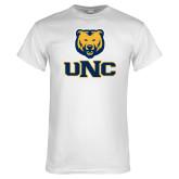 White T Shirt-Interlocked UNC and Bear