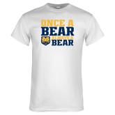 White T Shirt-Once a Bear Always a Bear